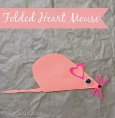 Folded Heart Mouse Craft For Kids - Crafty Morning