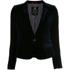Loveless velvet blazer (26.010 RUB) ❤ liked on Polyvore featuring outerwear, jackets, blazers, blue, blue velvet blazer, blue blazer, blazer jacket, blue blazer jacket and velvet jackets