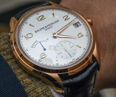 """""""Baume et Mercier Clifton Power Reserve Limited Edition Watch. Big Watches, Cool Watches, Watches For Men, Casual Watches, Swiss Luxury Watches, Swiss Made Watches, Breitling, Rolex, Gentleman Watch"""