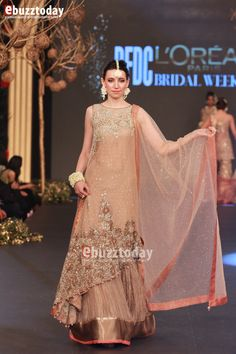 """""""It is always a pleasure to be a part of PFDC L'Oréal Paris Bridal Week, a fashion extravaganza which heralds the onset of the Pakistani wedding season. Pakistani Fashion Party Wear, Pakistani Formal Dresses, Pakistani Wedding Outfits, Pakistani Dress Design, Pakistani Bridal, Indian Dresses, Indian Outfits, Party Wear Dresses, Bridal Dresses"""