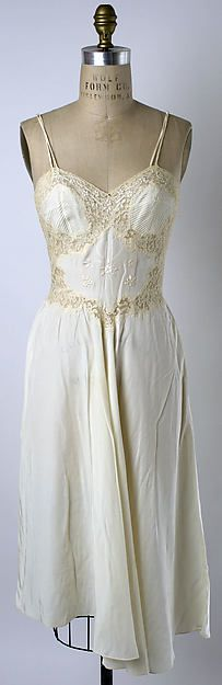 Nightgown Date: ca. 1956 Culture: Cuban Medium: synthetic Accession Number: 1976.267.1
