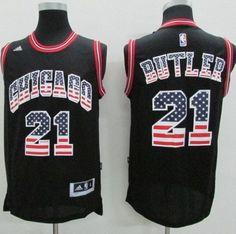 Bulls  21 Jimmy Butler Black USA Flag Fashion Stitched NBA Jersey Jimmy  Butler Jersey 24d8c4124