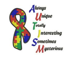 Autism Machine Embroidery Digitized Design Filled Pattern  - Instant Download - 4x4 , 5x7, and 6x10 -hoops