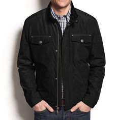 This jacket could end up dad's favorite, the 'Stand Collar Jacket' by Kenneth Cole is a great gift idea for Father's Day