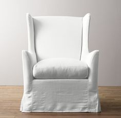 Wingback Swivel Glider with Slipcover - This will definitely take the nursery up a notch and can live on in another room after baby!