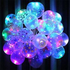 Light Balloons Birthday Party Wedding Decor Decoration Baby Kids Toys - New Site Neon Birthday, 13th Birthday Parties, Birthday Balloons, Christmas Birthday, 16th Birthday, Light Up Balloons, Bubble Balloons, Glow Stick Party, Glow Sticks