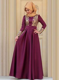 Samira Evening Dress - Purple - Zehrace