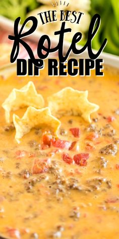 Rotel Dip Rotel Dip This quick and easy homemade Rotel dip is loaded with cheesy goodness, ground beef and spices. Best of all, with only three ingredients, it's ready to eat in minutes. Appetizer Dips, Yummy Appetizers, Appetizers For Party, Appetizer Recipes, Snack Recipes, Cooking Recipes, Easy Party Recipes, Easy Party Dips, Snacks For Party