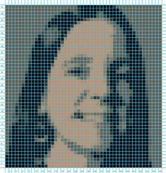 The online site, KnitPro, quickly (and for free) transforms any photo into a square-ruled graph