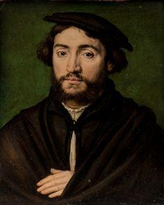 Corneille de Lyon (vers 1500-1510 –1575), Le Dauphin Henri. 1536-1537. Huile sur bois. Modène, Galleria Estense