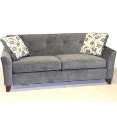 LaCrosse Furniture Tightback Chenille Queen Sleeper Sofa