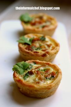 Curry Chicken Tart 咖喱鸡挞 Savoury spicy snack that has a unique flaky crust. This crust combines an oil dough and a water dough to get layers of flakiness.