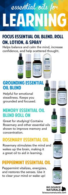 These essential oils help with learning, memory, and concentration #aromatherapy