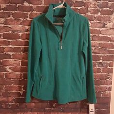 Calvin Klein Performance Fleece Brand new with tags! Beautiful turquoise color. Very soft and warm, two zippered front pockets. Smartphone pocket, headphone access Calvin Klein Jackets & Coats