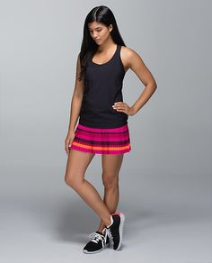 1bd942b93e Blossom stripe Bumble berry ghost pleat to street skirt size 6 Running  Gear, Athletic Outfits