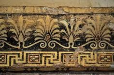 A typical Greek pattern showing palm trees.