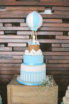 Hot Air Balloon  Baptism Party Ideas | Photo 1 of 14