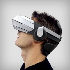 VR Glasses with integrated audio system, independent screens with high refreshing rate and low persistence, double HD cameras for augmented reality and even recording. A great immersion for video games, movies, augmented reality or telepresence. Virtual Reality Glasses, Virtual Reality Headset, Augmented Reality, Wearable Device, Wearable Technology, Futuristic Technology, 3d Video, Technology World, Medical Technology