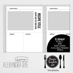 1000 ideas about recipe templates on pinterest recipe cards recipe binders and printable. Black Bedroom Furniture Sets. Home Design Ideas