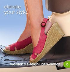 Womens A-Leigh Linen Wedge