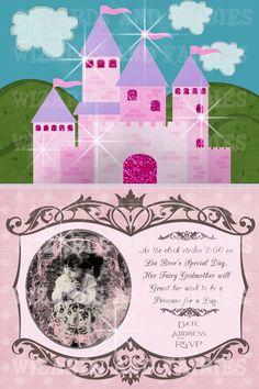 Princess Party Invitation...Fairy tale princess party