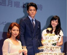 Oguri Shun, Ishihara Satomi, and Aibu Saki attends press conference for 'Rich Man, Poor Woman'