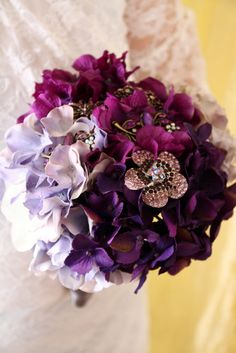 Purple Ombre Bouquet, I want hydrangeas for my flowers love this bouquet