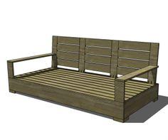 Free DIY plans for an indoor outdoor belvedere sofa