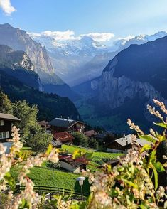 Above Lauterbrunnen, Wengen - Switzerland 🇨🇭 Wengen Switzerland, Switzerland Vacation, Visit Switzerland, Places To Travel, Places To Go, Travel Destinations, Romantic Vacations, Beautiful Places To Visit, Mountain Landscape