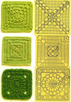 There are dozens & dozens of pattern diagrams at this site  #crochet #motif