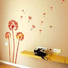 DIY Dandelion Flying in the Wind Wall Sticker Decals Home Room Decor Vinyl Mural in Home & Garden, Home Décor, Decals, Stickers & Vinyl Art | eBay