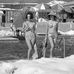 St. Moritz pokaz mody lata 50.