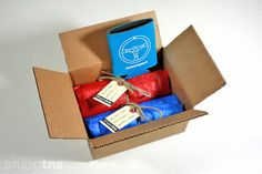 t-shirt packaging - tied in box