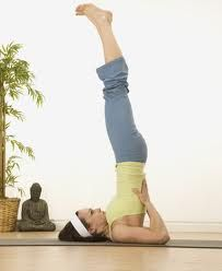 SHOULDER STAND - This promotes circulation in chest and neck. It is also said to stimulate the glands, in particular the thyroid.