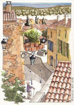 JR Sketches: Bonnieux