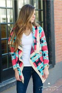 Sweater weather is coming! So cute for Fall - Tribal Cardigan & it's High Quality at a discount price!   $32.99 on Jane.com