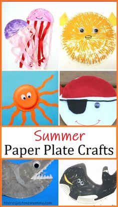 Fun and simple paper plate crafts that are perfect for summer #kidscrafts #craftsforkids #summercrafts #summerkidscrafts Paper Plate Art, Paper Plate Animals, Paper Plate Crafts For Kids, Animal Crafts For Kids, Spring Crafts For Kids, Craft Activities For Kids, Summer Crafts, Toddler Crafts, Preschool Crafts