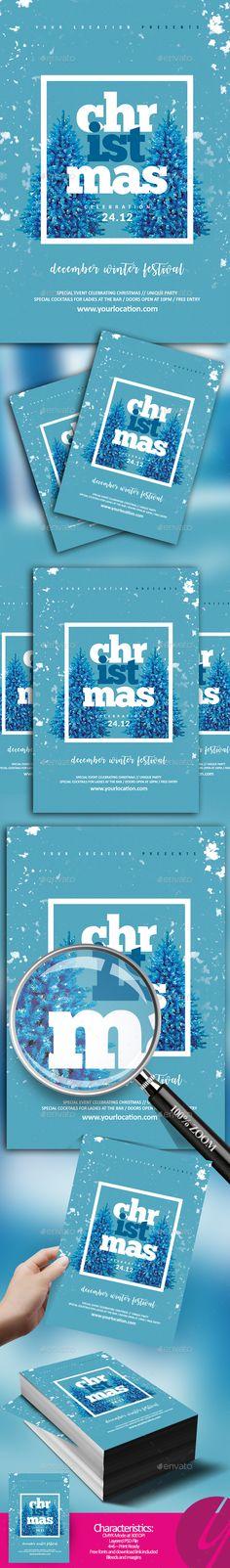 Minimalistic Christmas Flyer - Holidays Events