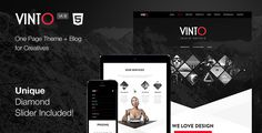 Vinto is a 100% fully responsive One Page template, designed for creative agencies, photographers, businesses and freelancers. With its unique design it's an amazing template to showcase your creat...