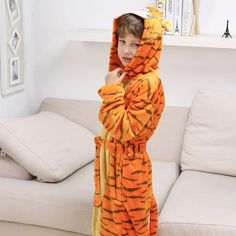 Kids Dinosaur Robes Pokemon Pikachu Boys Girls Sleepwear Pajamas Children s  Bathrobe Flannel Hoodie Robe Enfant Clothes for Bath 2d1b785b5
