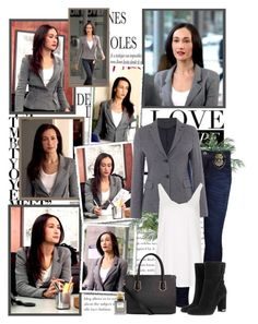 """Beth Davis"" by productionkid ❤ liked on Polyvore featuring Nearly Natural, Levi's, GANT, Topshop, Balmain, MICHAEL Michael Kors, stalker, MaggieQ, StalkerCBS and BethDavis"