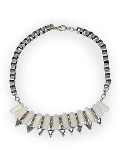 MANGO TOUCH - Crystals and strass necklace