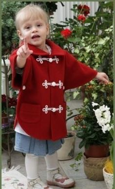 Little girl capes, Color: red with white wrapping. Girls Cape, Capes, Little Girls, Peplum, Color, Dresses, Women, Fashion, Colour