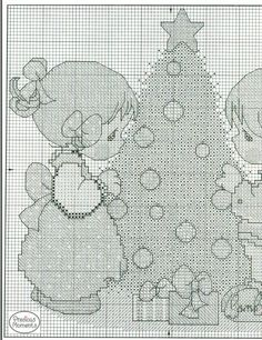 1/2 May Your Christmas Be Decorated - Precious Moments -  Cross Stitch