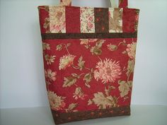Large Quilted Tote Bag in Crimson Red