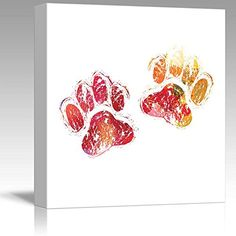 Wall26 - Fun and Colorful Splattered Watercolor Paw Print... https://www.amazon.com/dp/B01FSEF0XE/ref=cm_sw_r_pi_dp_x_G4nSyb91SWBJJ