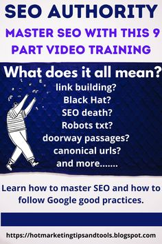 Now Get The KNOW-HOW To Dominate Search & Make It Work Better. Understand the nuances of search, and learn how to get the traffic and don't makes costly mistakes that make Google blacklist you. #seo #seotraffic #seoauthority #howtorankinSEO #googlesearches #authoritywebsite #SEOtraining How To Know, How To Start A Blog, How To Find Out, Seo Training, Make Money From Pinterest, Marketing Tools, Digital Marketing, Seo For Beginners, Video Advertising