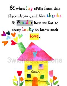 8 x 10 Whimsical Art Print Home by 3WishesCreations on Etsy
