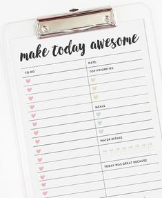 Daily Planner Page