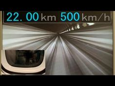 Japan's Maglev traveling at 500 kmh